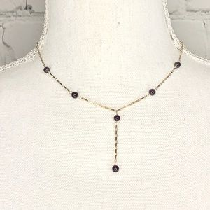 Jewelry - 14K Gold Drop Beaded Necklace